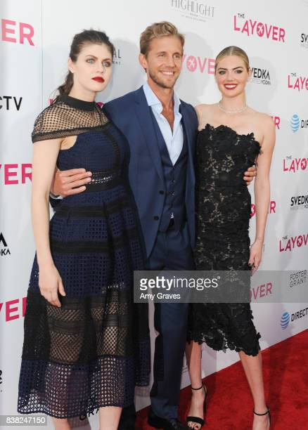 Alexandra Daddario Matt Barr and Kate Upton attends The Layover film premiere hosted by Vertical Entertainment DIRECTV Foster Grant and SVEDKA on...