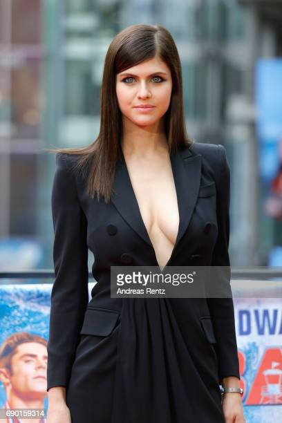 Alexandra Daddario poses at the 'Baywatch' Photo Call at Sony Centre on May 30 2017 in Berlin Germany