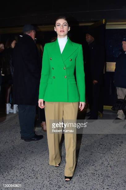 Alexandra Daddario seen at a NYFW event in Manhattan on February 12 2020 in New York City