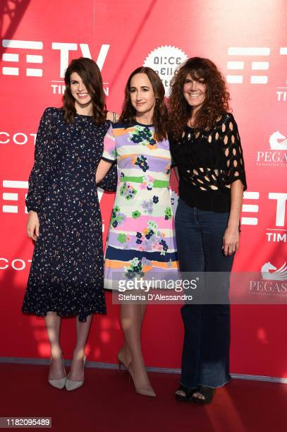 Alexandra Daddario Sophie Kinsella and Elise Duran attend the photocall of the movie Can You Keep A Secret during the Alice nella Città Festival on...