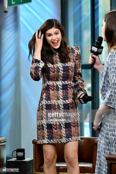 Alexandra Daddario visits the Build Series to discuss the new movie Baywatch at Build Studio on May 24 2017 in New York City
