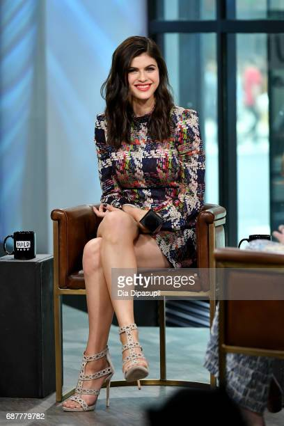 "Alexandra Daddario visits the Build Series to discuss the new movie ""Baywatch"" at Build Studio on May 24, 2017 in New York City."
