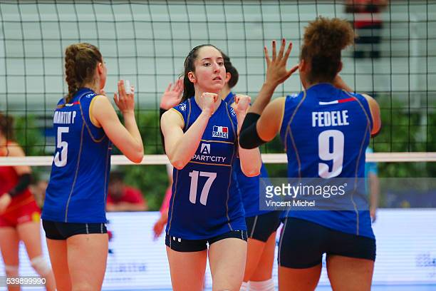 Alexandra Dascalu of France during the CEV European League match at Salle Colette Besson on June 11 2016 in Rennes France