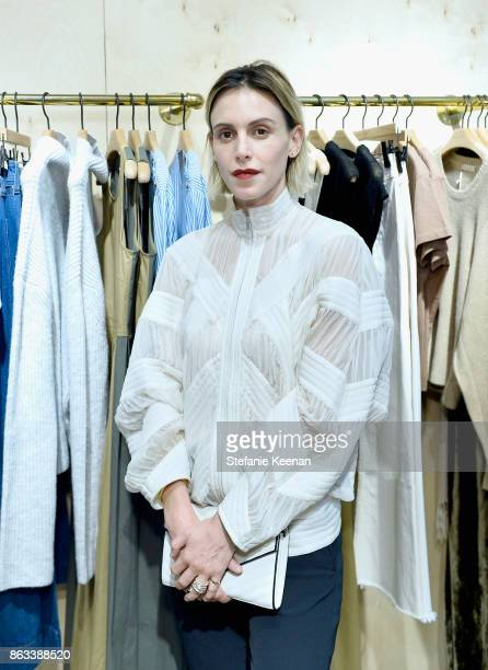 Alexandra de la Mora at Creatures of Comfort Celebrates Silverlake Opening hosted by Jade Lai Jenny Slate and Busy Philipps on October 19 2017 in Los...