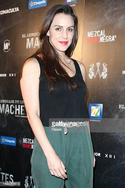 Alexandra de la Mora at the red carpet of the movie El Lenguaje de los Machetes in Cinepolis Bucareli on May 28 2012 in Mexico City