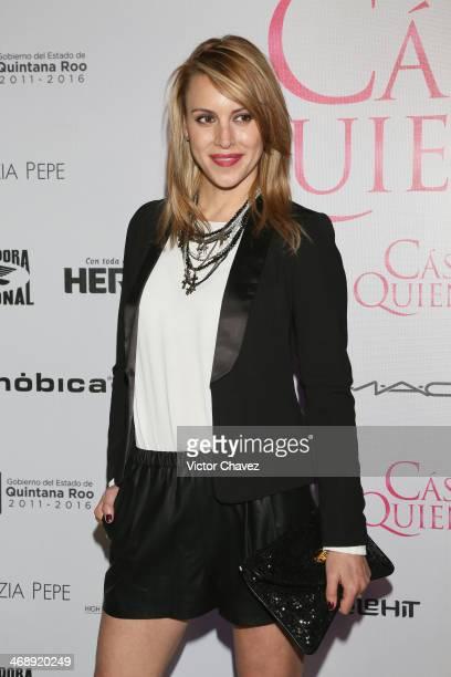 Alexandra de la Mora attends the Casese Quien Pueda Mexico City premiere at Cinemex Antara Polanco on February 11 2014 in Mexico City Mexico
