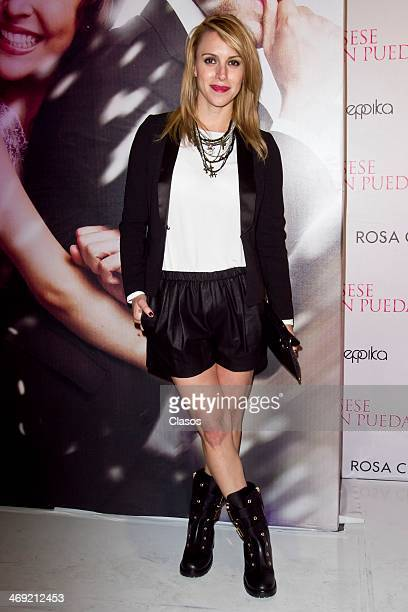 Alexandra de la Mora during the Red Carpet of the Mexican movie Casese Quien Pueda at Cinemex Antara on February 12 2014 in Mexico City Mexico