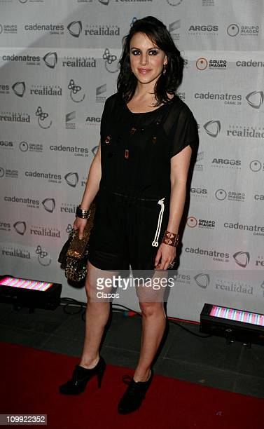 Alexandra de la Mora poses for photographers during the red carpet of the TV show Bienvenida Realidad on March 10 2011 in Mexico City Mexico