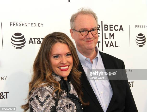 Alexandra Dean and Fleming Meeks attend the Bombshell The Hedy Lamarr Story Premiere at SVA Theatre on April 23 2017 in New York City ic