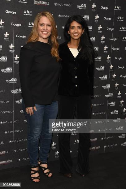 Alexandra Dean and Konnie Huq attend a special screening of 'Bombshell The Hedy Lamarr Story' at BFI Southbank on March 8 2018 in London United...