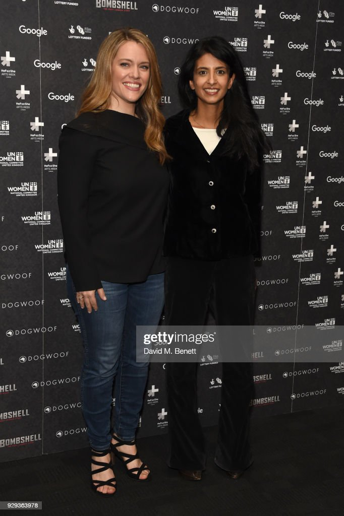 Alexandra Dean (L) and Konnie Huq attend a special screening of 'Bombshell: The Hedy Lamarr Story' at BFI Southbank on March 8, 2018 in London, United Kingdom.