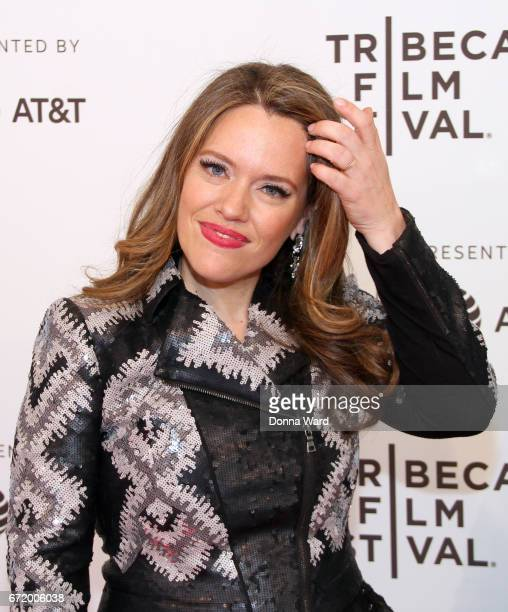 Alexandra Dean attends the Bombshell The Hedy Lamarr Story Premiere at SVA Theatre on April 23 2017 in New York City