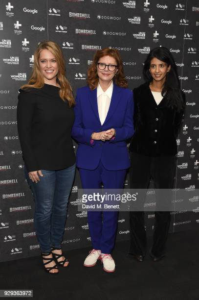 Alexandra Dean Susan Sarandon and Konnie Huq attend a special screening of 'Bombshell The Hedy Lamarr Story' at BFI Southbank on March 8 2018 in...