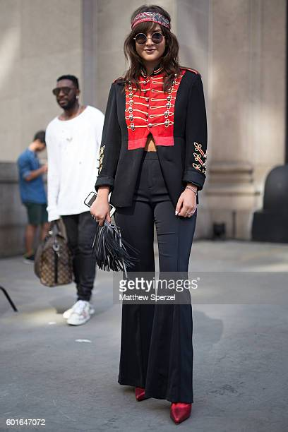 Alexandra Dieck is seen attending Desigual during New York Fashion Week on September 8 2016 in New York City