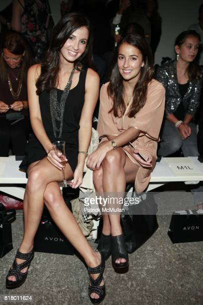 Alexandra Dillard and Michelle Dillard attend CYNTHIA STEFFE Spring 2011 Fashion Show at Eyebeam on September 12 2010 in New York City