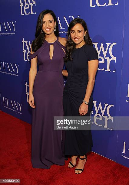 Alexandra Dillard and Michelle Dillard attends the 76th Annual Two Ten Footwear Foundation dinner and awards on December 1 2015 in New York City