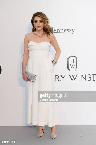 Alexandra Dinu arrives at the amfAR Gala Cannes 2017 at Hotel du CapEdenRoc on May 25 2017 in Cap d'Antibes France