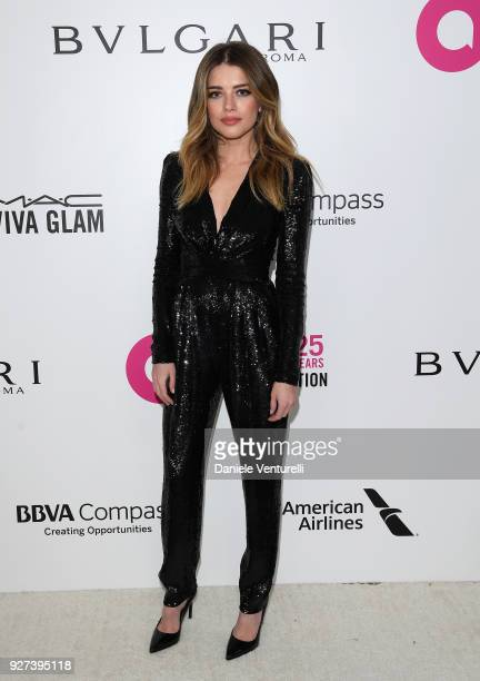 Alexandra Dinu attends Elton John AIDS Foundation 26th Annual Academy Awards Viewing Party at The City of West Hollywood Park on March 4 2018 in Los...