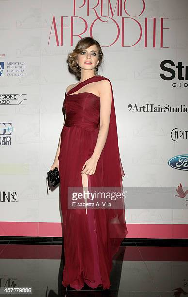 Alexandra Dinu attends the Premio Afrodite 2014 at Capitol Club on October 15 2014 in Rome Italy