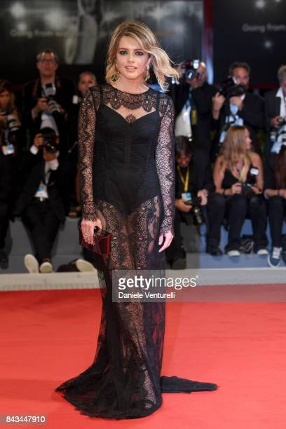 Alexandra Dinu walks the red carpet ahead of the 'Loving Pablo' screening during the 74th Venice Film Festival at Sala Grande on September 6 2017 in...