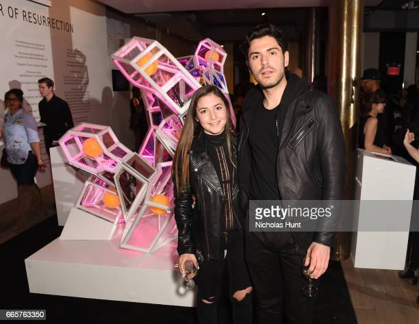Alexandra Dodge and Joey Zauzig attend HBO's The HeLa Project Exhibit For The Immortal Life of Henrietta Lacks on April 6 2017 in New York City