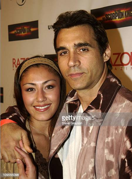 Alexandra Donelli Adrian Paul during 'The Scorpion King Spectacular' and Launch Party at Sunset and Crescent Heights in Hollywood California United...
