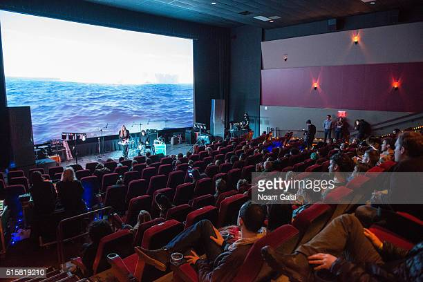 Alexandra Drewchin of 'Guardian Alien' performs during the Primal Screams concert at AMC Empire 25 theater on March 15 2016 in New York City