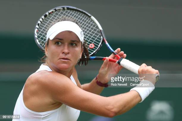 Alexandra Dulgheru during her match against Venus Williams at All England Lawn Tennis and Croquet Club on July 4 2018 in London England