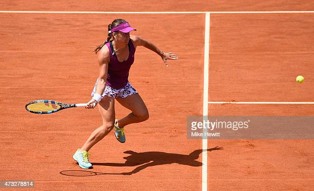 Alexandra Dulgheru of Romania in action during her Third Round victory over Ekaterina Makarova of Russiaon Day Five of The Internazionali BNL...