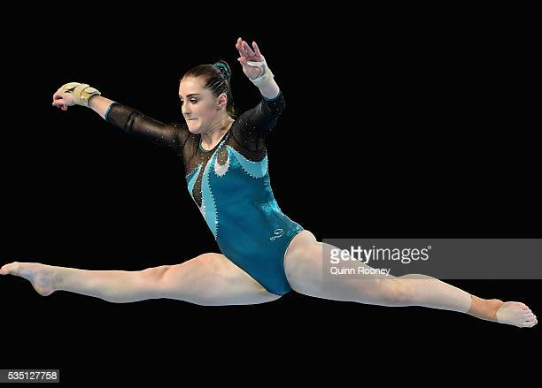 Alexandra Eade of Victoria competes on the floor during the 2016 Australian Gymnastics Championships at Hisense Arena on May 29 2016 in Melbourne...