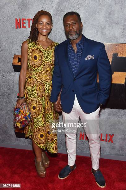 Alexandra Edwards and Curtiss Cook attend the 'Luke Cage' Season 2 premiere at The Edison Ballroom on June 21 2018 in New York City