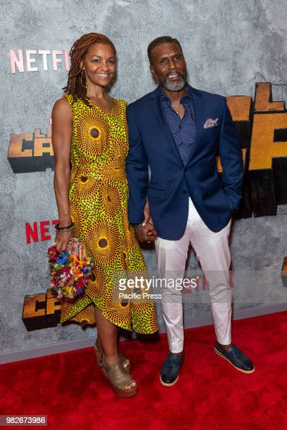 Alexandra Edwards and Curtiss Cook attend the Luke Cage Season 2 premiere at The Edison Ballroom