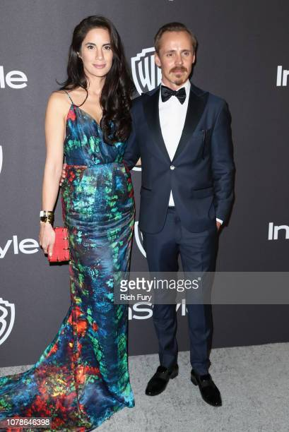 Alexandra Escat and Jasper Pääkkönen attend the InStyle And Warner Bros Golden Globes After Party 2019 at The Beverly Hilton Hotel on January 6 2019...