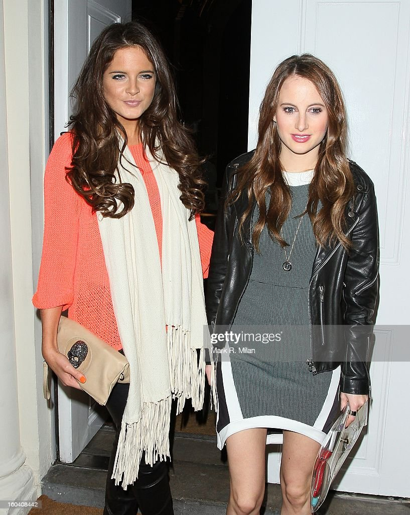 Alexandra Felstead and Rosie Fortescue attending the Diet Coke private party held at Sketch restaurant on January 30, 2013 in London, England.