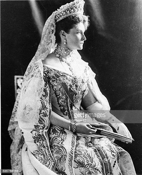 Alexandra Feodorovna Darmstadt 1872 Lekaterinbourg 1918 Empress of Russia born Princesse Alix of Hesse and the Rhine daughter of Louis IV of Hesse...