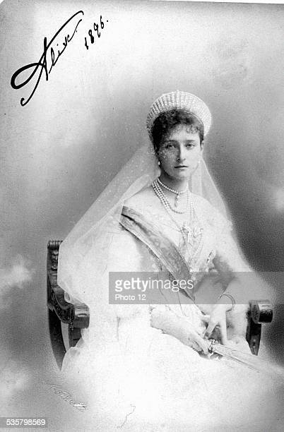 Alexandra Feodorovna Empress of Russia née Princess Alix of Hesse and the Rhineland daughter of Ludwig IV of Hesse and the Rhineland Married Nicholas...