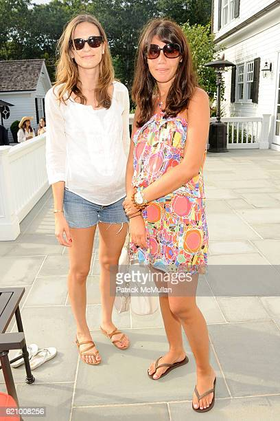 Alexandra Fritz and Libby Mugrabi attend VICTORIA's SECRET Supermodel Obsessions Fall Preview Event at Home of Hanna Soukupova on August 16 2008 in...