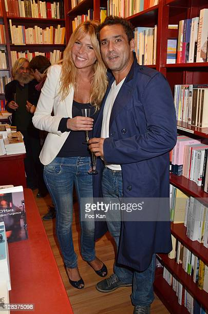 Alexandra Genoves and actor Jean Pierre Martins attend the 'the 'Sophie a Cannes' Sylvie Bourgeois Book Launch Cocktail at L'Ecume des Jours on...