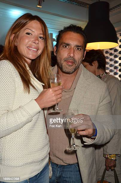 Alexandra Genoves and Jean Pierre Martens attend the Philadelphia 'Bar A Tartines' Launch Party In Paris at the Philadelphia Ephemere Shop on June 4...