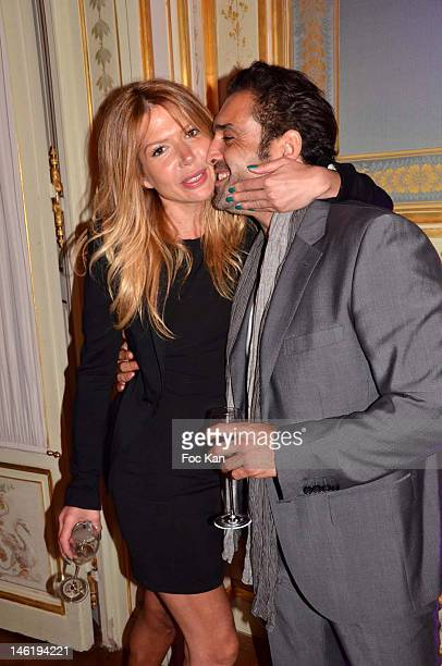 Alexandra Genoves and Jean Pierre Martins attend the Romy Schneider And Patrick Dewaere Awards 2012 After Party at the Hotel ShangriLa on June 11...