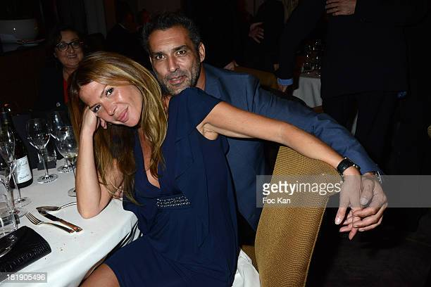 Alexandra Genoves and JeanPierre Martins attend the 'Instant Lyrique Diner Opera' At The Hotel Burgundy on September 25 2013 in Paris France