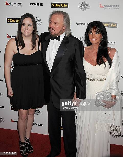 Alexandra Gibb Barry Gibb and Linda Ann Gibb arrives at the G'Day USA Australia Week 2011 Black Tie Gala at Hollywood Palladium on January 22 2011 in...