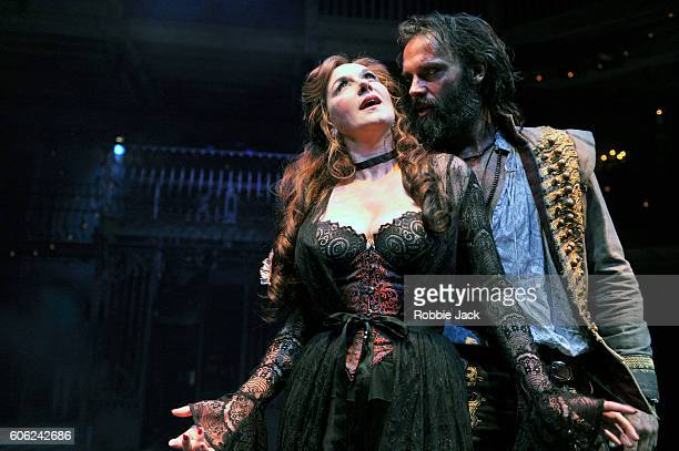 Alexandra Gilbreath as Angellica Bianca and Joseph Millson as Willmore in the Royal Shakespeare Company's production of Aphra Behn's The Rover...