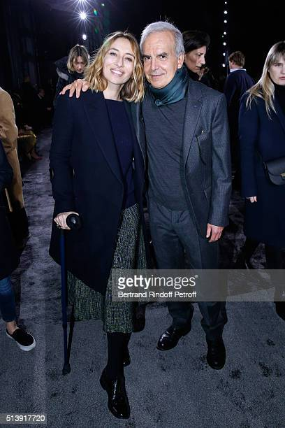 Alexandra Golovanoff and CEO of Puig Fashion Division and President of the French Federation of couture and readytowear Ralph Toledano attend the...