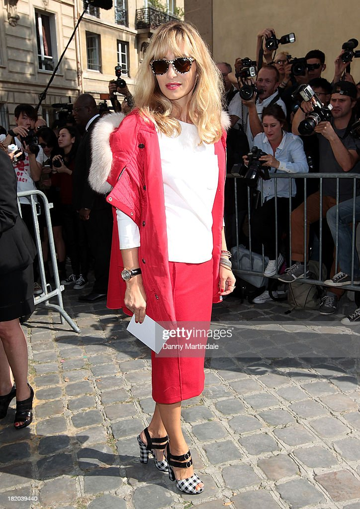 Alexandra Golovanoff attends Christian Dior show at the Musee Rodin on September 27, 2013 in Paris, France.