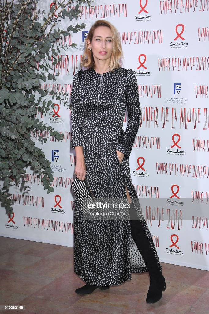 Alexandra Golovanoff attends the 16th Sidaction as part of Paris Fashion Week on January 25, 2018 in Paris, France.