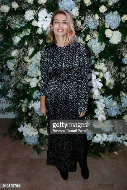 Alexandra Golovanoff attends the 16th Sidaction as part of Paris Fashion Week on January 25 2018 in Paris France