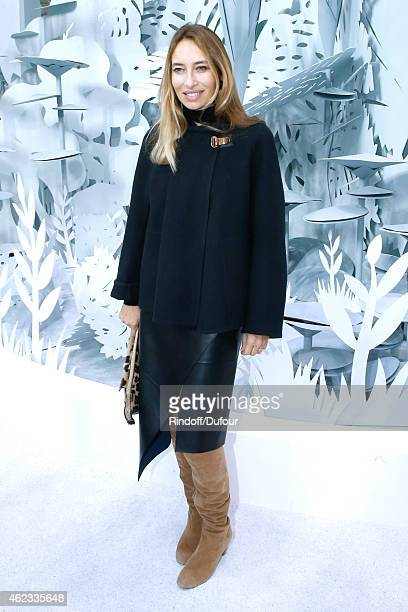 Alexandra Golovanoff attends the Chanel show as part of Paris Fashion Week Haute Couture Spring/Summer 2015 on January 27 2015 in Paris France