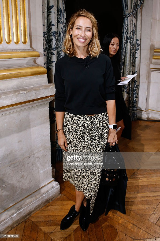 Alexandra Golovanoff attends the Lanvin show as part of the Paris Fashion Week Womenswear Spring/Summer 2017. Held at Paris City Hall on September 28, 2016 in Paris, France.