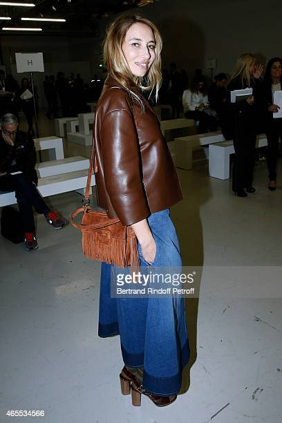 Alexandra Golovanoff attends the Nina Ricci show as part of the Paris Fashion Week Womenswear Fall/Winter 2015/2016 on March 7 2015 in Paris France